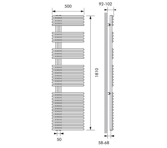 Technical drawing QS-V83080 / FUN014181050