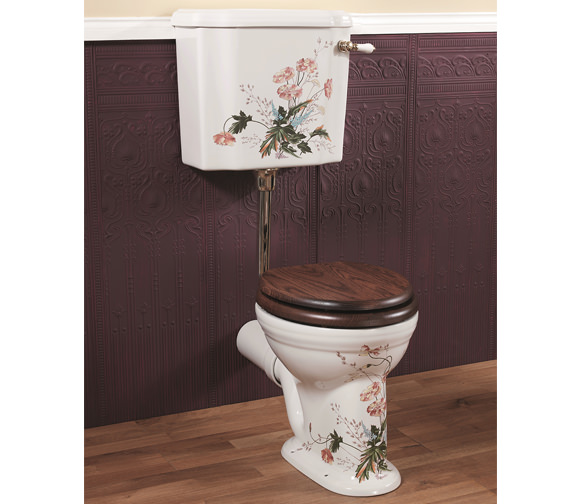 Silverdale Victorian Garden Low Level WC And Cistern With Fittings