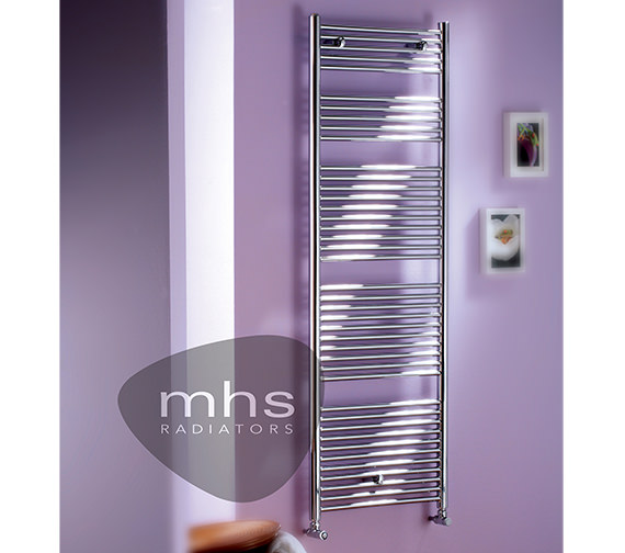 MHS Sunny Chrome Heated Towel Rail 500 x 800mm - SUN021080050