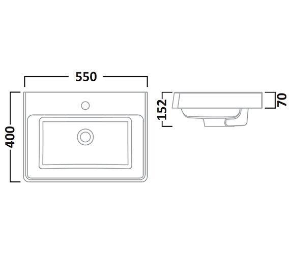 Technical drawing QS-V7171 / AB550W