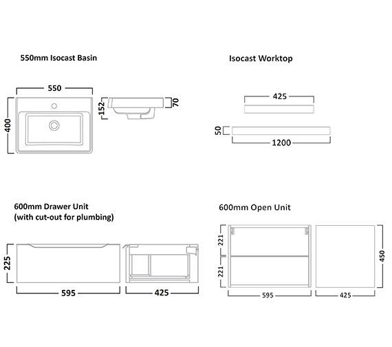 Technical drawing QS-V7179 / AB550W