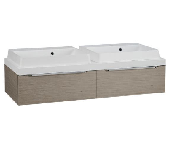 Tavistock Array Light Java 1200mm Twin Single Drawer Units With Double Basin