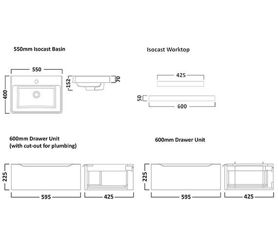 Technical drawing QS-V7189 / AB550W