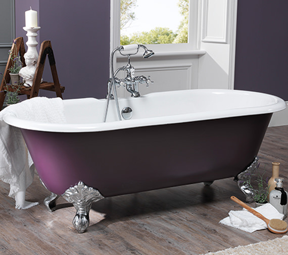 Silverdale Rosamund Dual Roll Top Bath 1700 x 780mm With Primed Feet