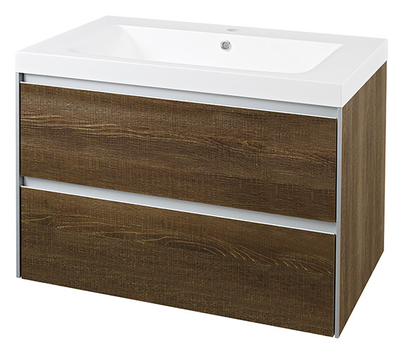 Hudson Reed Erin 800mm Cabinet With Basin Textured Oak