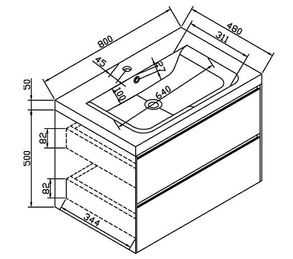 Technical drawing QS-V6197 / CAB384