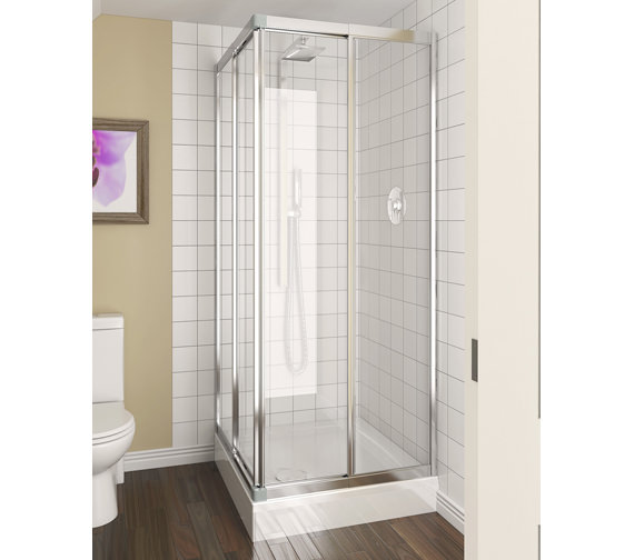 Aqualux Aqua 4 Telescopic Corner Entry Clear Glass Enclosure 760-800mm - 1174014