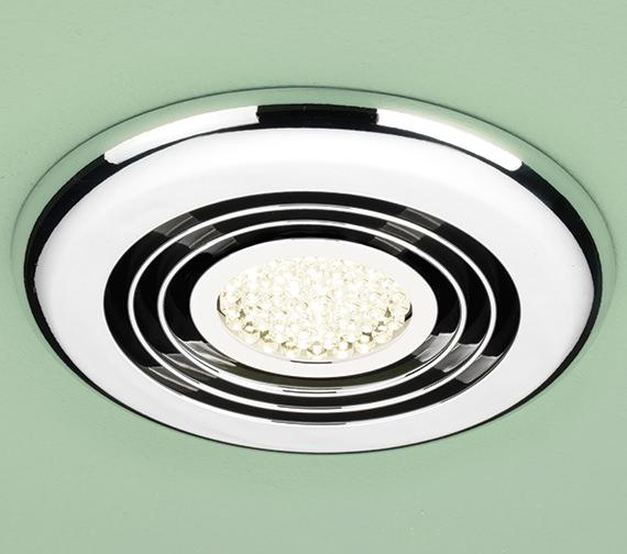 HIB Cyclone Warm White LED Illuminated Inline Fan White
