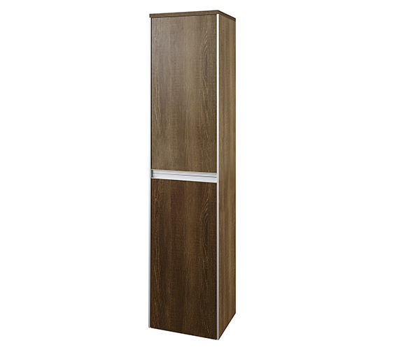 Hudson Reed Erin 350 x 1500mm Tall Cabinet Textured Oak - CAB387