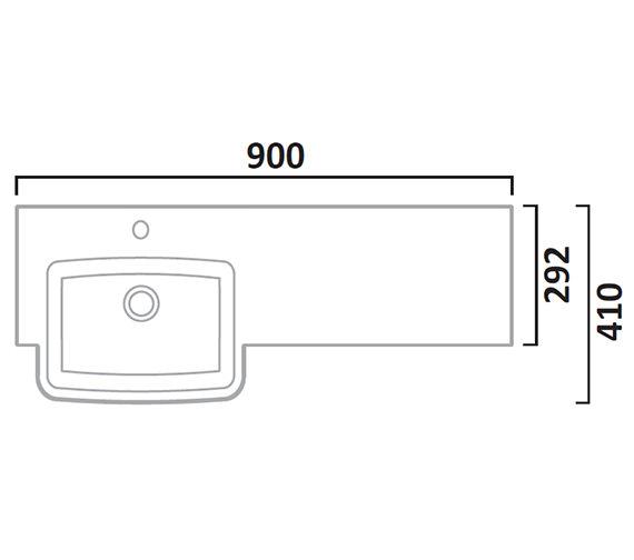 Technical drawing QS-V7205 / CR900L