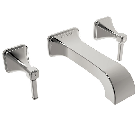 Heritage Somersby 3 Taphole Wall Mounted Bath Filler Tap - TSBC11