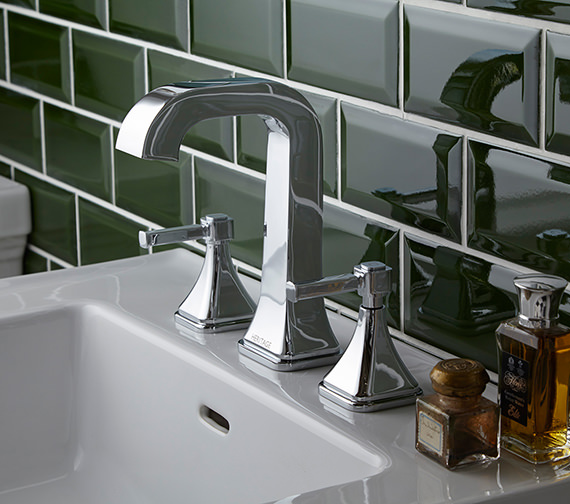 Heritage Somersby 3 Taphole Basin Mixer Tap