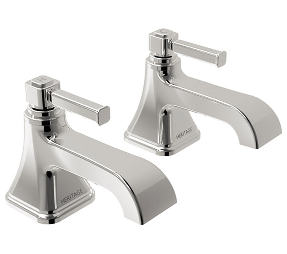 Heritage Somersby Chrome Basin Pillar Taps - TSBC00