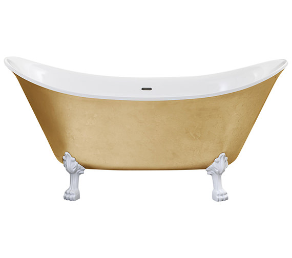 Additional image of Heritage Lyddington Freestanding Copper Effect Acrylic Bath With Feet 1730mm