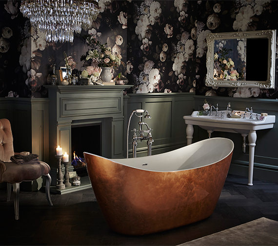 Alternate image of Heritage Hylton Freestanding Copper Effect Acrylic Bath 1730 x 730mm