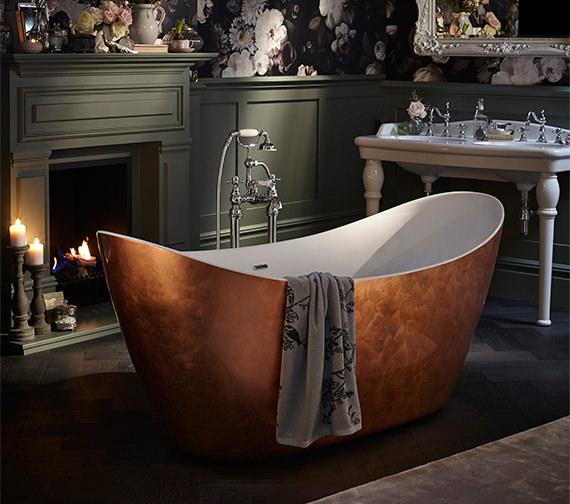Heritage Hylton Freestanding Copper Effect Acrylic Bath