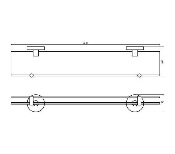 Aqualux Haceka Pro 2000 Glass Shelf 600mm 1190850