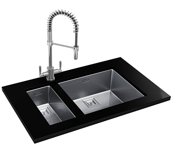 Franke Centinox Designer Pack CMX 110 17+110 50 Stainless Steel Sink And Tap