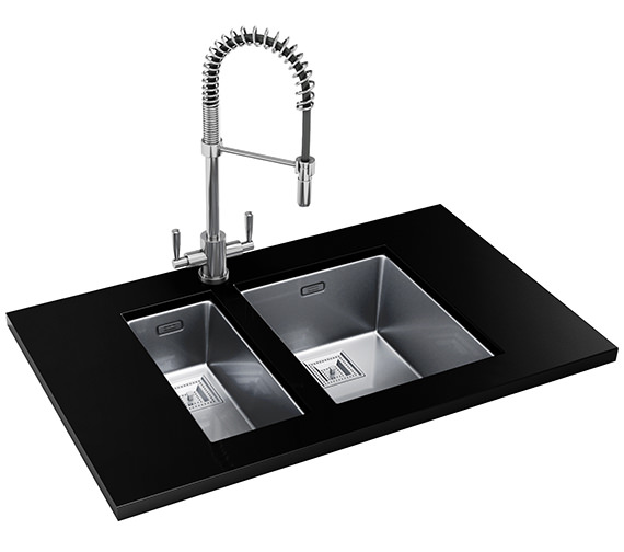 Franke Centinox Designer Pack CMX 110 17+110 34 Stainless Steel Sink And Tap