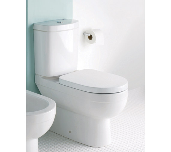 Silverdale Richmond Close Coupled WC Pan With Cistern And Toilet Seat