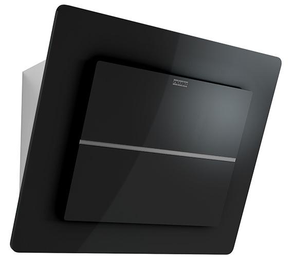 Franke Maris Plus 600mm FMPL 606 BK B Wall Mounted Black Glass Kitchen Hood
