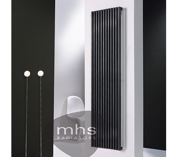 MHS Zana Vertical Double Anthracite Designer Radiator 624 x 1800mm