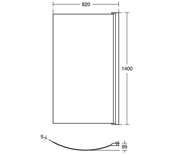 ideal standard tempo arc 820 x 1400mm shower bath screen ideal standard tempo arc 820 x 1400mm shower bath screen