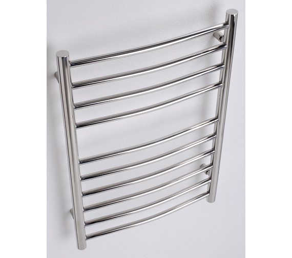 MHS Alara Curved Stainless Steel Dual Fuel Towel Rail 600 x 1200mm