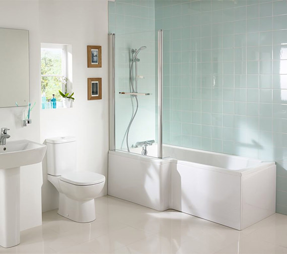 Additional image of Ideal Standard Tempo Cube Idealform Left Hand 1700 x 850mm Shower Bath