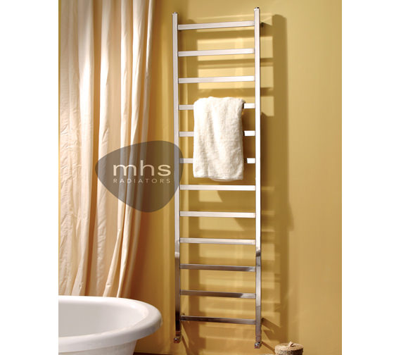 MHS Climber Polished Stainless Steel Heated Towel Rail 350 x 1800mm