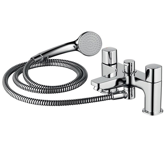 Ideal Standard Tempo 2 Hole Dual Control Bath And Shower Mixer Tap