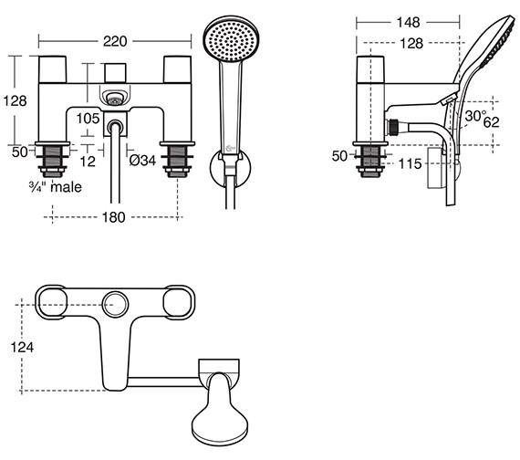 Technical drawing QS-V10448 / B0731AA