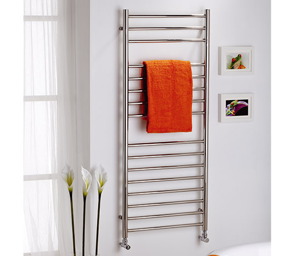 MHS Alara Polished Stainless Steel Electric Towel Rail 500 x 430mm