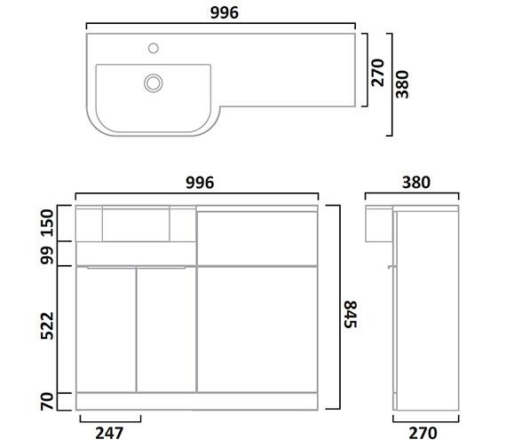 Technical drawing QS-V7223 / MATLOB