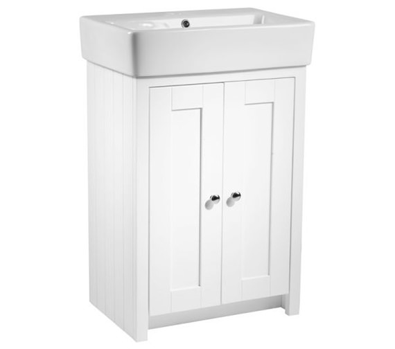 Tavistock Lansdown 550mm Freestanding Unit And Basin Linen White - LAN550B.LW, SB900S