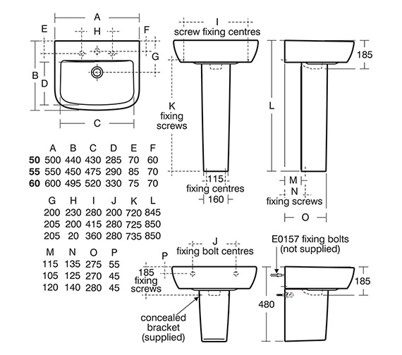 Technical drawing QS-V10470 / T058801