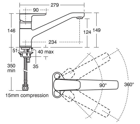 Technical drawing QS-V10454 / B0766AA