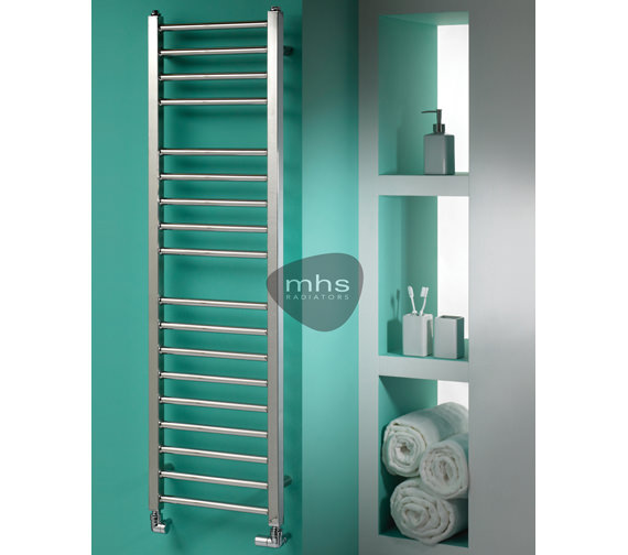 MHS Java Polished Stainless Steel Electric Towel Rail 350 x 1200mm