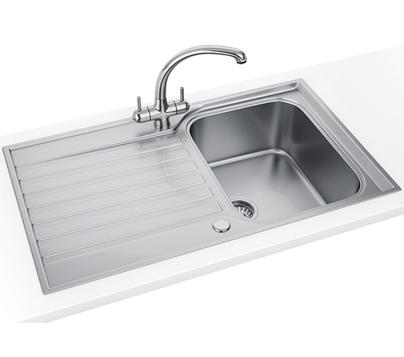 Franke Ascona Propack ASX 611-860 Stainless Steel Kitchen Sink And Tap