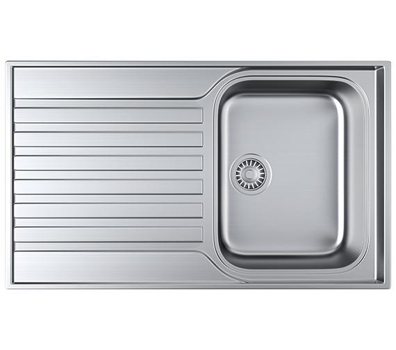 Franke Ascona ASX 611-860 Stainless Steel 1.0 Bowl Kitchen Inset Sink