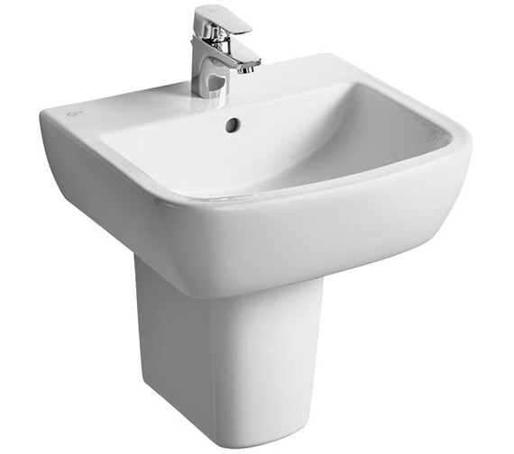 Ideal Standard Tempo 500mm 1 Tap Hole Basin And Semi Pedestal