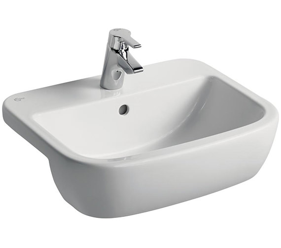 Ideal Standard Tempo 550mm 1 Tap Hole Semi-Countertop Washbasin