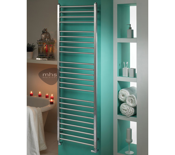 MHS Java Polished Stainless Steel Heated Towel Rail 500 x 800mm