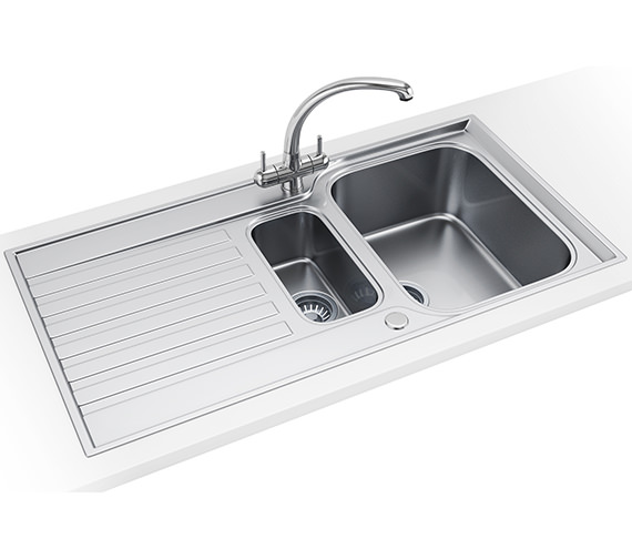 Additional image of Franke Ascona ASX 651 Stainless Steel 1.5 Bowl Kitchen Inset Sink