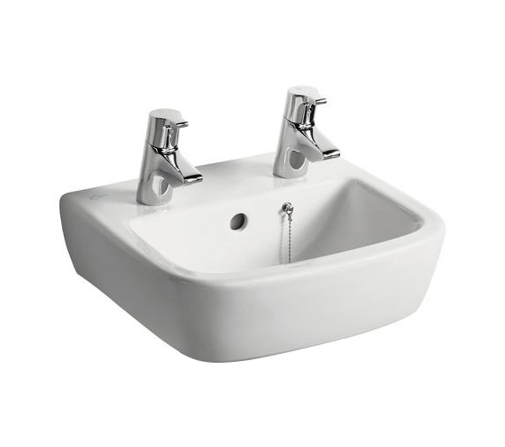 Ideal Standard Tempo 400mm 2 Tap Hole Handrinse Basin - T059401