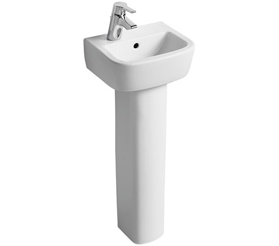 Ideal Standard Tempo 350mm 1 LH Tap Hole Handrinse Basin And Pedestal