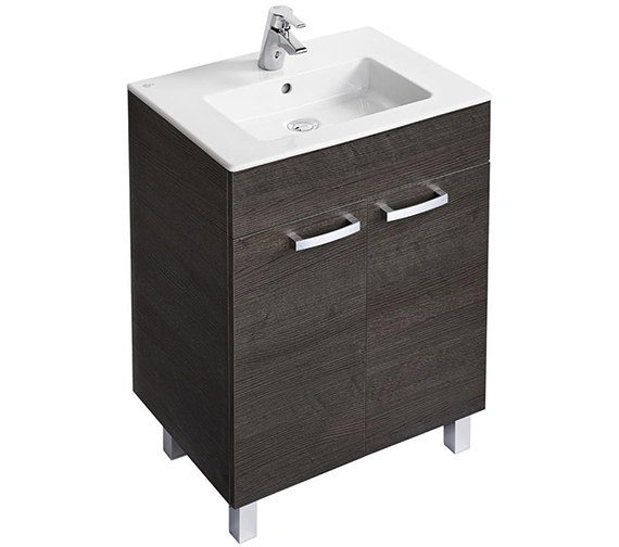 Ideal Standard Tempo 600mm 2 Door Sandy Grey Vanity Unit With Legs