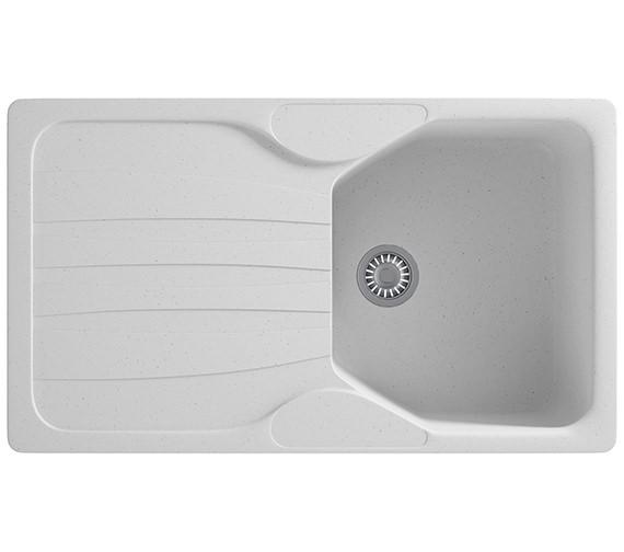 Franke Calypso COG 611 Fragranite Polar White 1.0 Bowl Kitchen Inset Sink