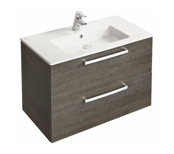 Ideal Standard Tempo 800mm Wall Mounted 2 Drawers Sandy Grey Vanity Unit