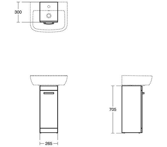 Technical drawing QS-V10499 / E3259SG